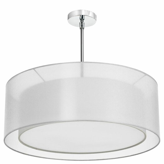 Dainolite 4 Light Double Drum Pendant