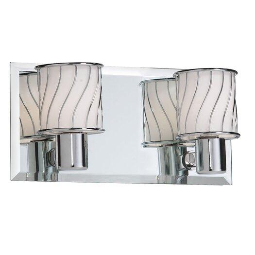 Dainolite Bevelled Mirror 2 Light Bath Vanity Light