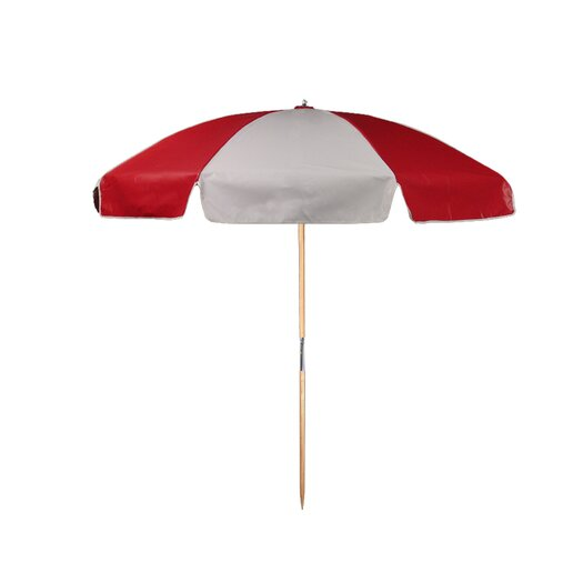 Frankford Umbrellas 7.5' Diameter Vinyl Beach Umbrella with Alternating Panels