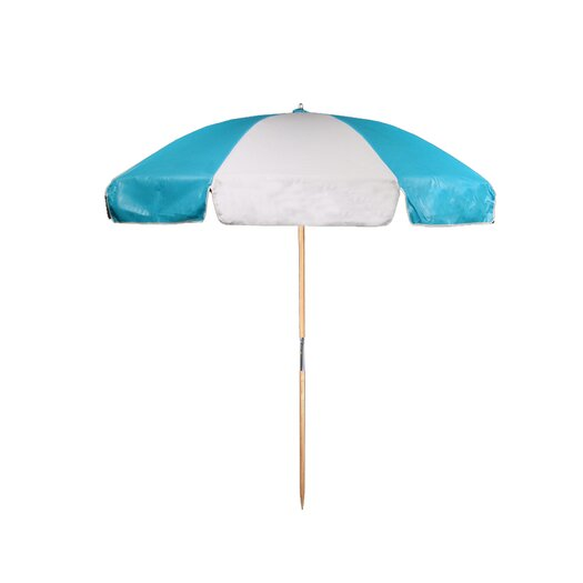 Frankford Umbrellas 7.5' Diameter Vinyl Beach Umbrella with Alternating Panels