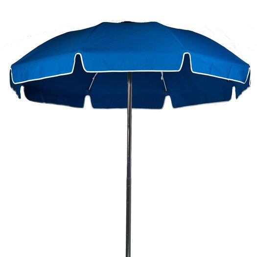 Frankford Umbrellas 7.5' Diameter Fiberglass Beach Umbrella with Aluminum Center Pole