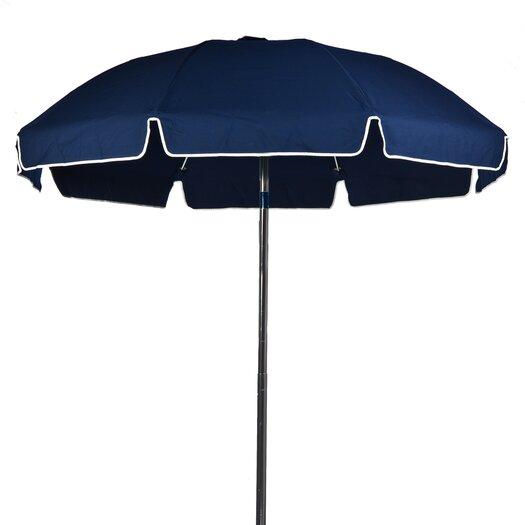Frankford Umbrellas 7.5' Diameter Fiberglass Beach Umbrella with Tilt
