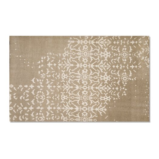Moe's Home Collection Fringe Sand White/Gray Area Rug