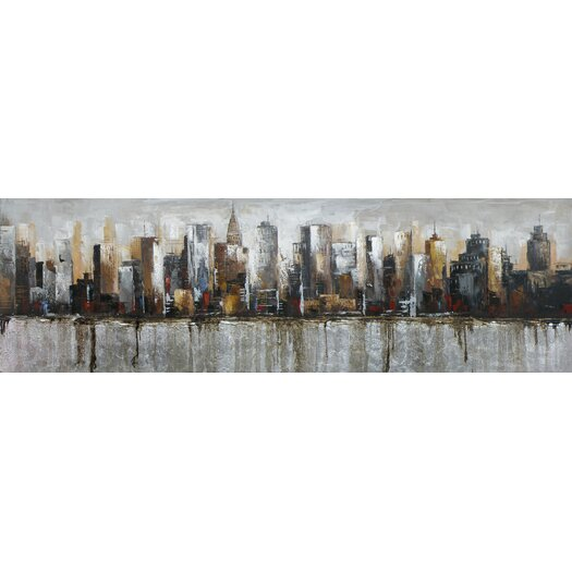 Moe's Home Collection Metropolis Painting Print on Canvas