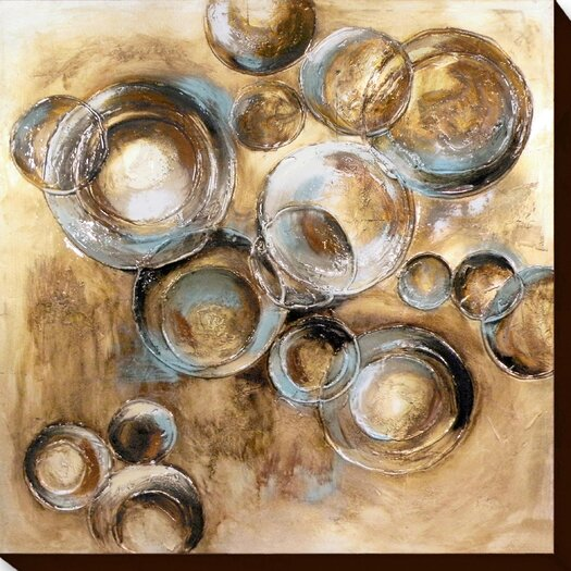 Moe's Home Collection Circles 1 Painting Print on Canvas