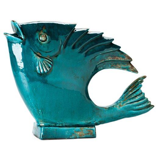 Moe's Home Collection Big Fish Teal Figurine