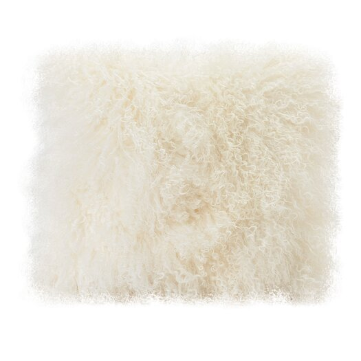 Moe's Home Collection Lamb Fur Wool Throw Pillow