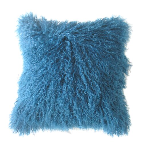 Moe's Home Collection Lamb Faux Fur Wool Throw Pillow