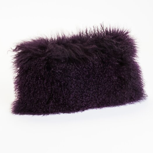 Moe's Home Collection Lamb Fur Wool Pillow