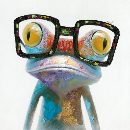 Moe's Home Collection Smart Frog Painting Print on Canvas