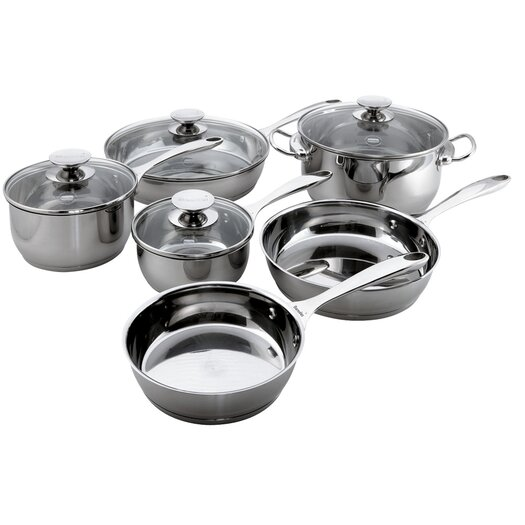 Berndes Cucinare Stainless Steel 10-Piece Cookware Set