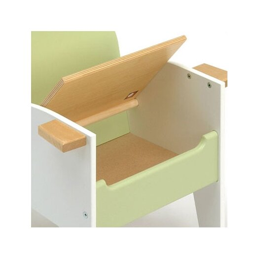 Offi Hide-n-Sit Armchair in Green