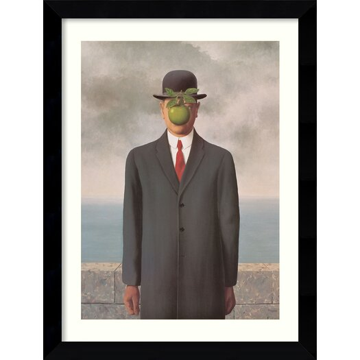 Amanti Art 'Le Fils de l'Homme' (Son of Man) by Rene Magritte Framed Photographic Print