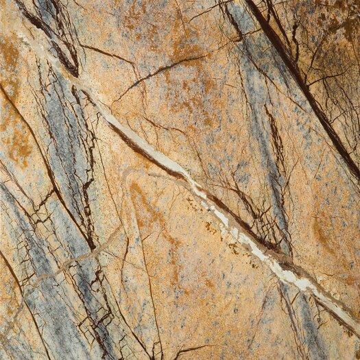 "Emser Tile Natural Stone 12"" x 12"" Marble Tile in Rainforest Brown"