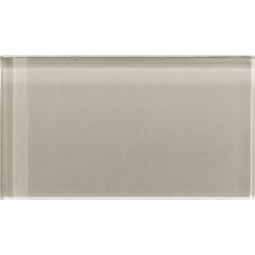"Emser Tile Lucente 3"" x 6"" Glossy Field Tile in Morning Fog"