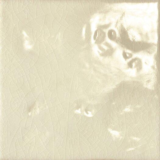 "Emser Tile Cape Cod 6"" x 6"" Double Fire Glazed Ceramic Wall Tile in Artisan Cream Crackle"