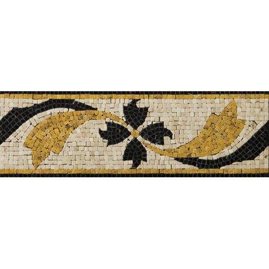 """Emser Tile Natural Stone 12"""" x 4"""" Honed Marble Gira Listello"""