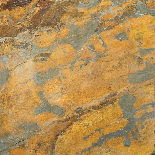 """Emser Tile Natural Stone 16"""" x 16"""" Calibrated Slate Field Tile in Earth"""