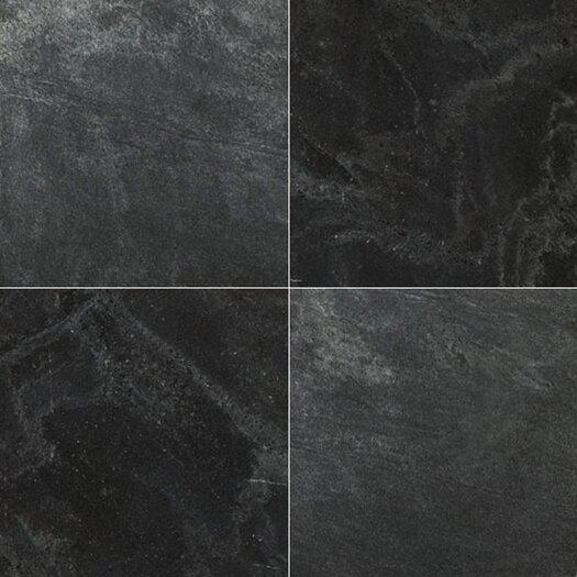 "Emser Tile Natural Stone 16"" x 16"" Honed Slate Field Tile in Silver Gray"