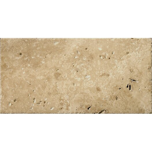 """Emser Tile Natural Stone 8"""" x 16"""" Chiseled Travertine Field Tile in Umbia Bruno"""