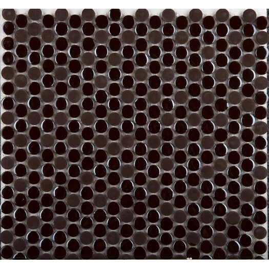 Emser Tile Confetti Porcelain Penny Round Mosaic in Chocolate