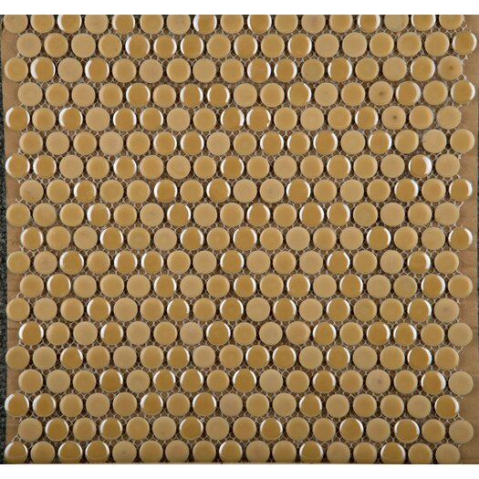 Emser Tile Confetti Porcelain Penny Round Mosaic in Sand