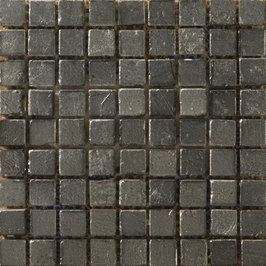 "Emser Tile Treasure Metal Coated 5/8"" x 5/8"" Travertine Unpolished Mosaic in Reserve"