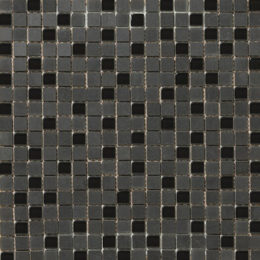 Emser Tile Lucente Stone and Glass Unpolished Mosaic in Zanfirico
