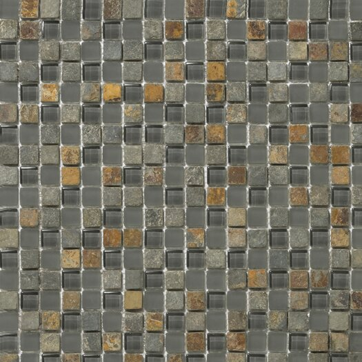 Emser Tile Lucente Stone and Glass Unpolished Mosaic in Romano