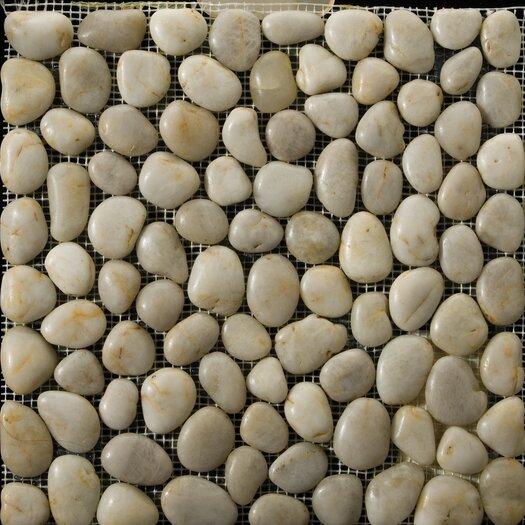 Emser Tile Natural Stone Rivera Random Sized Pebble Unpolished Mosaic in Cream