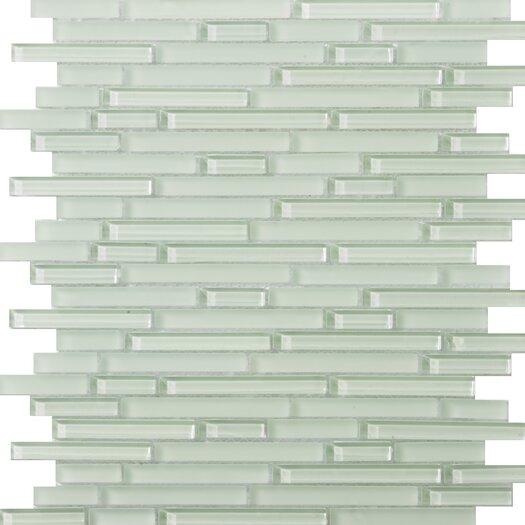 Emser Tile Lucente Random Sized Glass Glossy Mosaic in Cascade Linear