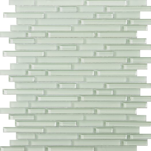 Emser Tile Lucente Random Sized Glass Mosaic in Cascade Linear