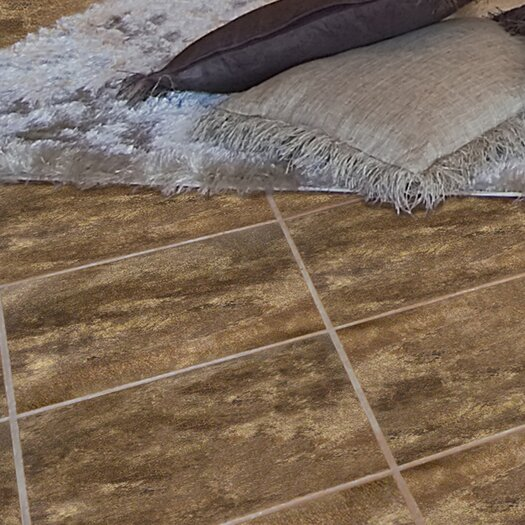 "Emser Tile Paseo 13"" x 13"" Glazed Ceramic Floor Tile in Marrone"