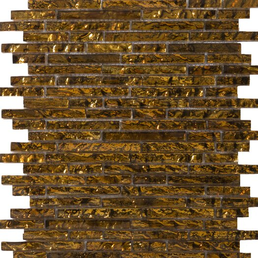 Emser Tile Vista Random Sized Glass Mosaic in Venini Linear