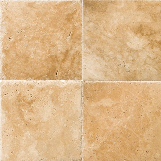 "Emser Tile Natural Stone 16"" x 16"" Chiseled Travertine Field Tile in Umbia Savera"