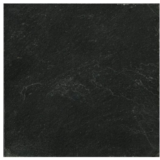 "Emser Tile Natural Stone 16"" x 16"" Calibrated Slate Field Tile in Midnight Black"