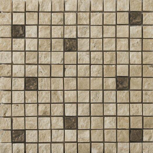 Emser Tile Natural Stone Split Face Travertine Tumbled/Unpolished Mosaic in Compound Beige