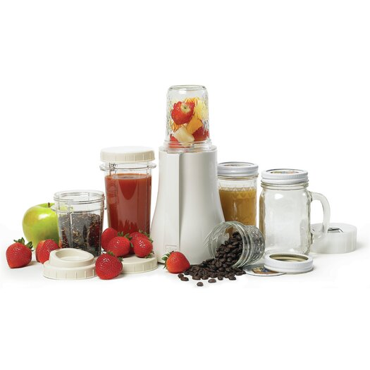 Tribest BPA Free Mason Jar Personal Blender with Grinder