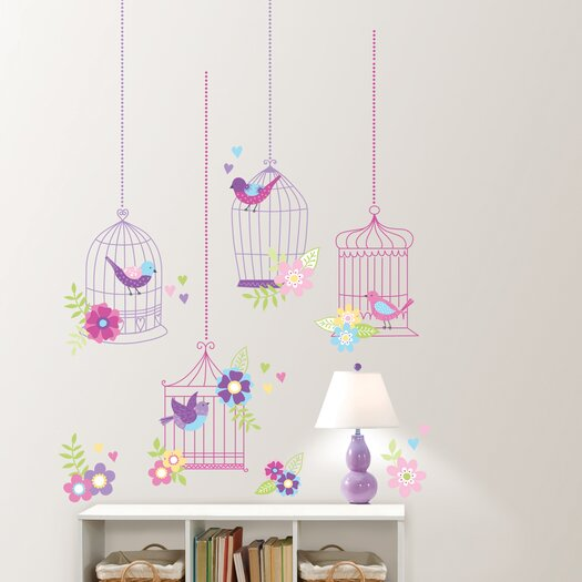 WallPops! Art Kit Chirping The Day Away Wall Decal