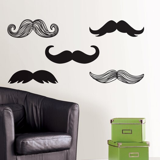 WallPops! Art Kit Mustache Small Wall Decal