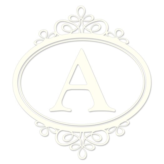 WallPops! Sheets Southampton Ivory Monogram and Alphabet Wall Decal