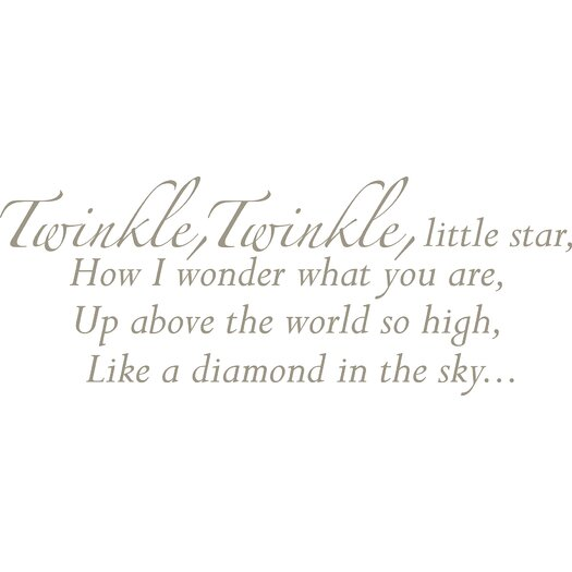 WallPops! Baby Twinkle, Twinkle Wishes Wall Decal