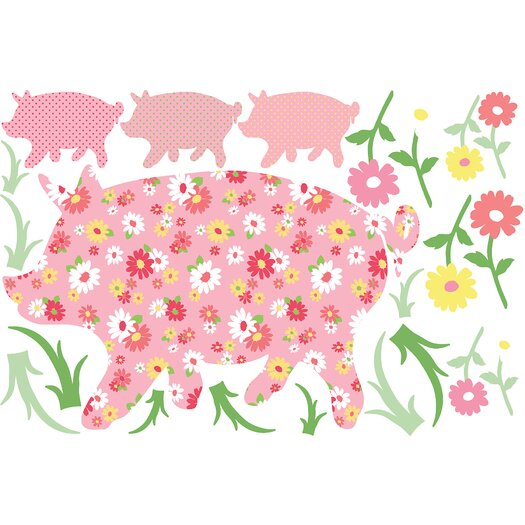 WallPops! ZooWallogy Scarlett The Pig Wall Decal