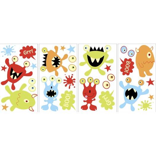 WallPops! Little Monsters Glow in the Dark Wall Decal Kit