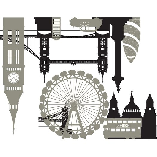 WallPops! London Calling Small Wall Decal Kit
