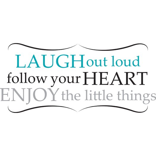 WallPops! Art Kit Laugh Out Loud Quote Wall Decal