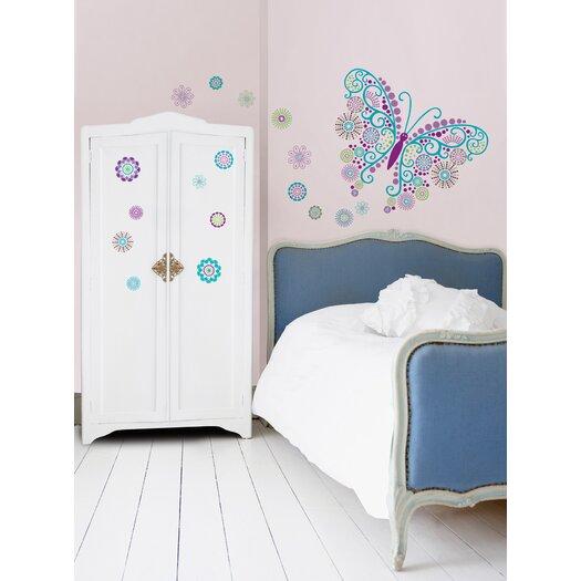 WallPops! Art Kit Social Butterfly Wall Decal