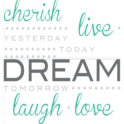 WallPops! Art Kit Cherish Dream Live Quote Wall Decal