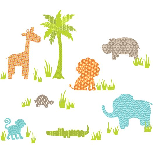 WallPops! Art Kit Jungle Friends Wall Decal