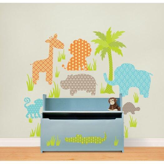 WallPops! Art Kit Jungle Friends Wall Decal